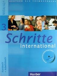 Deutsch als Fremdsprache. Kursbuch + Arbeitsbuch. Schritte 3 international + CD