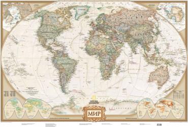 Карта мира под старину (NG) А0
