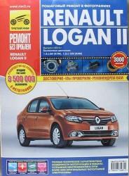 Renault Logan II. Выпуск с 2014 г. Бензиновые двигатели 1.6 л 8V (K7M), 1.6 л 16V (K4M). Руководство по эксплуатации, техническому обслуживанию и ремонту. В фотографиях