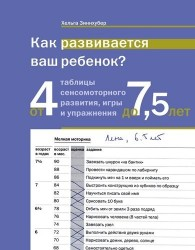 Как развивается ваш ребенок? Таблицы сенсомоторного развития, игры и упражнения: от 4 до 7,5 лет. 4-е издание