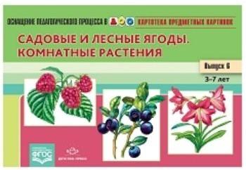 Картотека предметных картинок. Наглядный дидактический материал. Выпуск № 6. Садовые и лесные ягоды. Комнатные растения