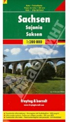 Saxony: Road and Leisure Map