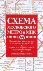 Схема метро с МЦК (карманная)