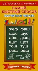 Самый быстрый способ научиться читать. Слоговые таблицы