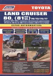Toyota Land Cruiser 80, (81) 70/73/75/77. Модели 1990-1998 гг. выпуска с дизельными двигателями