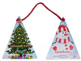Новогодняя ёлочка и снеговичок. Книжка-игрушка