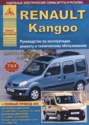 Renault Kangoo I Выпуск 1997 - 2008 рестайлинг с 2005 с бензиновыми и дизельными двигателями. Эксплуатация. Ремонт. ТО