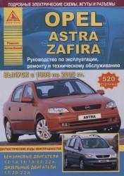 Opel Astra/Zafira Выпуск 1998 - 2005 с бензиновыми и дизельными двигателями. Эксплуатация. Ремонт. ТО