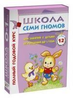Школа Семи Гномов 0-1 год. Полный годовой курс (12 книг в подарочной упаковке) омплекты ШСГ в коробочках