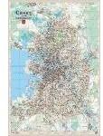 Санкт-Петербург. Настенная карта (ламинированная)