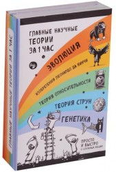 Главные научные теории за 1 час: Эволюция. Изобретения Леонардо да Винчи. Теория относительности. Теория струн. Генетика (комплект из 5 книг)